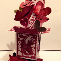 Handmade Luxury Pop-Up 3D Valentines Kiss Card  With Envelope