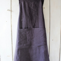 Pinafore, cross-back linen Apron