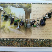 Disney Princess and the Frog inspired charm bracelet