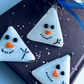 Set of three glass snowmen Christmas decorations