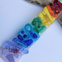 Rainbow suncatcher fused glass, house warming gift, window or wall decoration
