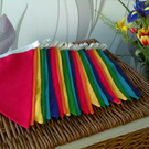 Rainbow coloured fabric bunting