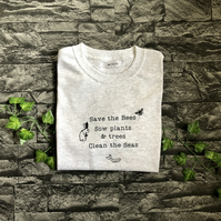 Save the Bees, trees and seas T-shirt