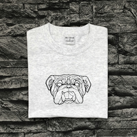 Geometric Bulldog T-shirt