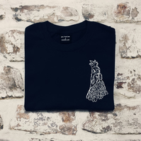 Navy Mini Chicken t-shirt