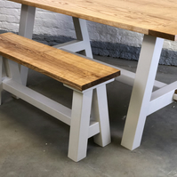 Handmade A Frame Rustic Farmhouse Traditional Joinery Ash Bench