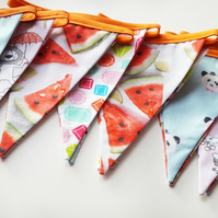 Triangle Flag Bunting; Children's Room Decor; Handmade Flag Bunting