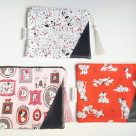 Dalmatians, Zip Pouch, Essential Pouch, Make up Pouch, Dogs, Zip Case