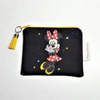 Mickey Mouse Pouch, Minnie Small Zip Case, Coin Pouch, Small Wallet