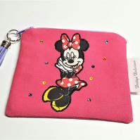 Mickey Mouse Pouch, Minnie Small Zippered Case
