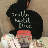 Shabby Rabbit Blue