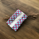 Floral Pink White Blue Pocket Tissue Holder