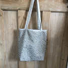 Handmade, Spotted, Spotty, Polka Dot Fabric Tote Bag, Shopping Bag, Market Bag,