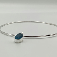 Handmade Sea Glass Bangle