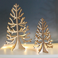 Wooden Christmas Tree Craft Display Table Decoration