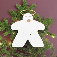 Meeple Angel Christmas Tree Topper