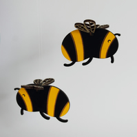 Hanging Wooden Bumblebee Decoration