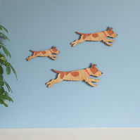 Family of Jumping Jack Russell Terriers - Wall decor Hangings