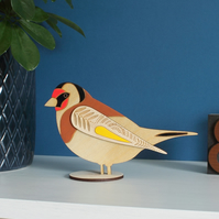 Standing Wooden Goldfinch Decoration