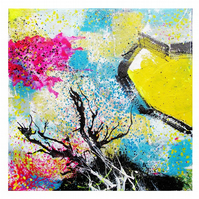 Original Abstract Painting Contemporary Canvas Wall Art Colourful Small Format