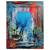 Abstract Painting Modern Urban Expressionism Multicolour Colourful Street Art