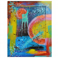 Abstract Painting Bright Colourful Contemporary Original Expressive Artwork