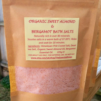 Citrus Love Bath Salt, Himalayan Salt, Dead Sea Salt, Citrus, Almond Oil, Salt