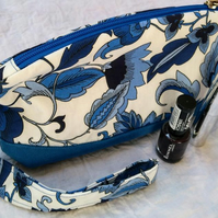 Toiletry Bag, Make-up Bag, Cosmetic, Wash Bag, Zipped, Cotton, Travel Organiser