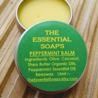Organic Peppermint Balm, Lip Balm,Elbow Balm, Feet Balm, Party Favour