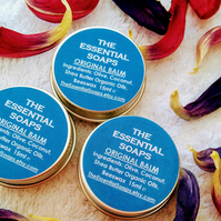 Organic Original Balm, Natural, Lip Balm, Foot Balm, Hand Balm, Stocking Filler