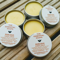 Organic Earthy Cedar Beard Balm, Natural, Moustache Balm, Gift for Him, Grooming