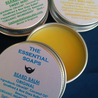 Organic Original Beard Balm, Moustache Balm, Gift for Him, Moisturising