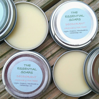 Organic Orange & Tea Tree Natural Deodorant, Handmade, Plastic Free, Vegan