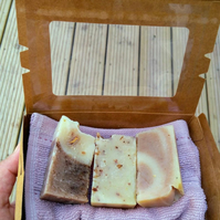 Bath Gift Set, Natural Soaps, A Cotton Flannel, House Warming, Baby Shower