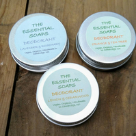 Organic Natural Deodorant, 30g Sample Size, Travel, For Women & Men, Vegan