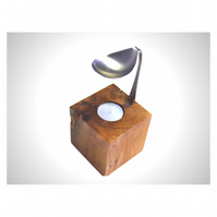 Handcrafted Oak & Spoon Essential Oil Burner, Hygge, Tealight Candle, Cosy Home