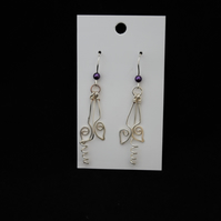 Leaf and Vine Wire Work Earrings