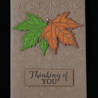 Leafy Thinking Of You Card