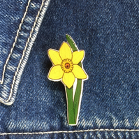 Daffodil - hand made Pin, Badge, Brooch