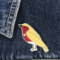 Little Robin Red Breast - hand made Pin, Badge, Brooch