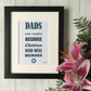 Daddies were created because Children need Superheroes - Mounted Print