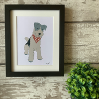 Fox Terrier - Mounted Print