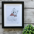 West Highland White Terrier - Mounted Print