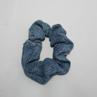 Elasticated  denim hair scrunchie,hair accessory handmade,zero waste,gift