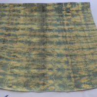 Unisex yellow stripy tie dye Eco bandana,up cycled zero waste neckerchief, gift