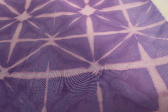 Unisex purple shibori tie dye Eco bandana,up cycled zero waste neckerchief, gift