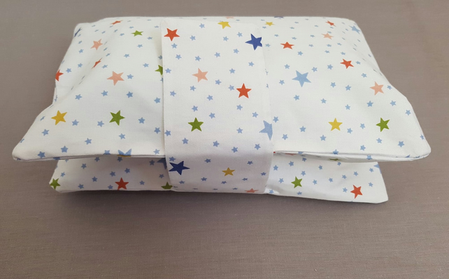 Baby Star Print Travel Nappy Wallet  Fully Lined Shower Gift Nursery