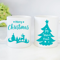 Christmas Novelty Mugs Personalised Mugs Santa Reindeer Mugs Christmas Gift
