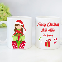 Christmas Novelty Mugs Personalised Mugs Elf Girl Mugs Christmas Gift