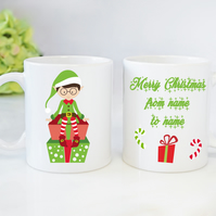 Christmas Novelty Mugs Personalised Mugs Elf Boy Mugs Christmas Gift
